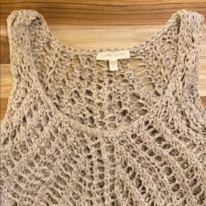 Eileen Fisher • Open Knit Crochet Sleeveless Top